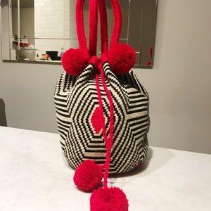 Handbags - Poblado Red/Black Handmade Colombian Bag